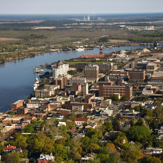 Wilmington lies along the coast of Cape Fear.