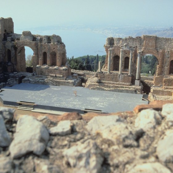Taormina's spectacular Greek theater is just one stop on your Sicilian walking tour.