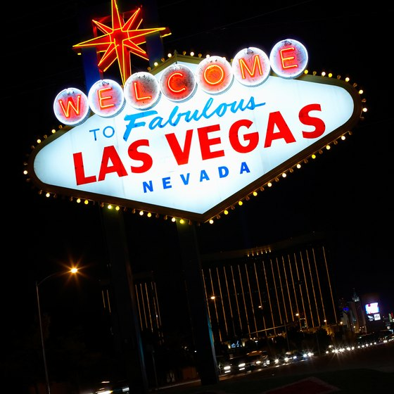 "The famous ""Welcome to Las Vegas"" sign is situated at the southern end of the Strip near the airport."