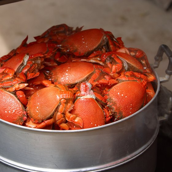 Lousiana crawfish are a highlight of the Augusta festival.