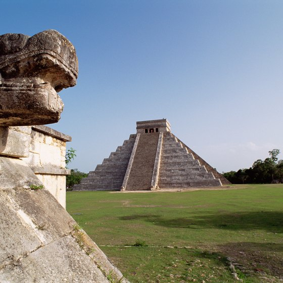 Mayan pyramids like this one at Chichen Itza are a big tourist draw.