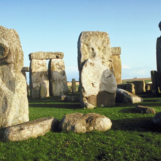 Tour buses offer a way to visit Stonehenge from London.