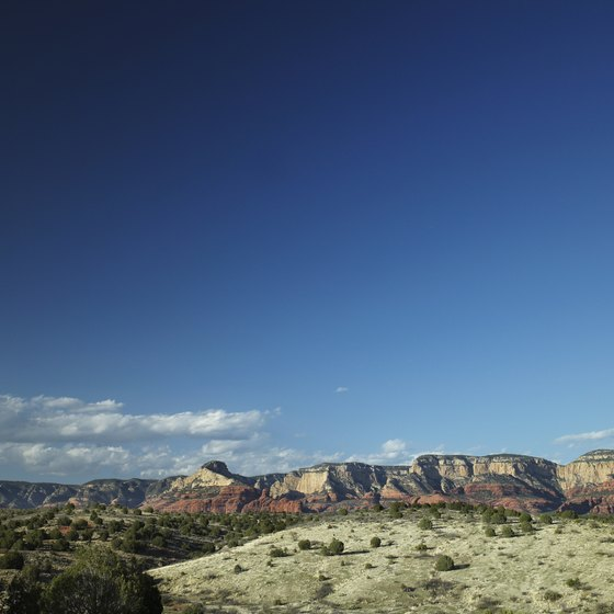 Enjoy scenic red rock views on the road to Munds Park.