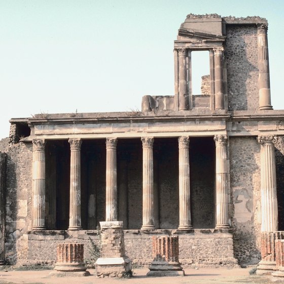Naples sightseeing tours may visit the ruins in nearby Pompeii.