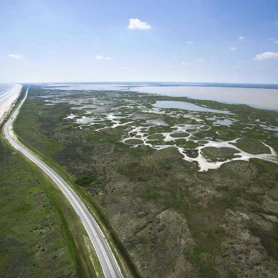 Many Texas beaches sit on barrier islands.