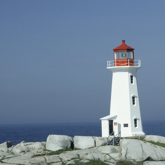 Lighthouses are a common sight in Nova Scotia.