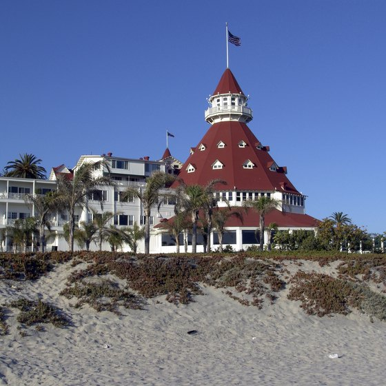 Coronado Island's famed seaside Hotel del Coronado has beachfront cottages on the grounds.