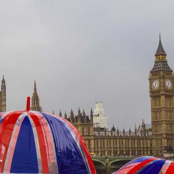 Stay dry while exploring the landmarks of London in May and June.