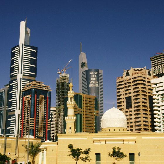 Sheikh Zayed Road is part of the modern city of Dubai.