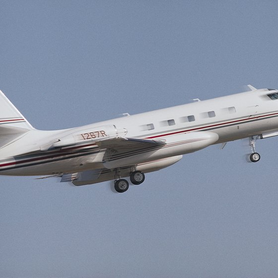 Learjets are a comfortable, exclusive way to travel.