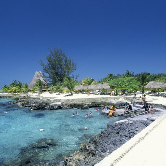 Cozumel's Chankanaab National Park offers aquatic activites and miles of walking trails.