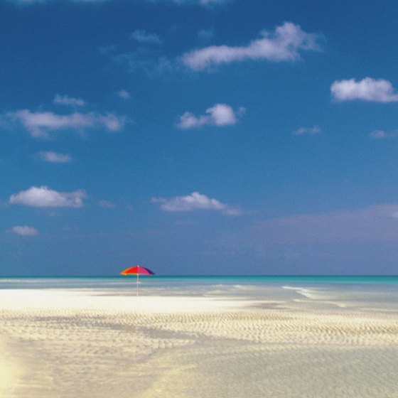 Take the short flight to the Bahamas to enjoy white sand beaches.