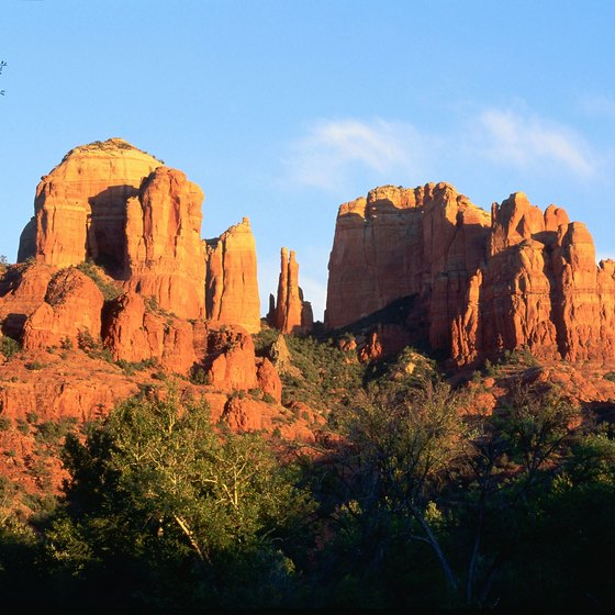Sedona, Arizona, is known for its picturesque red rocks.