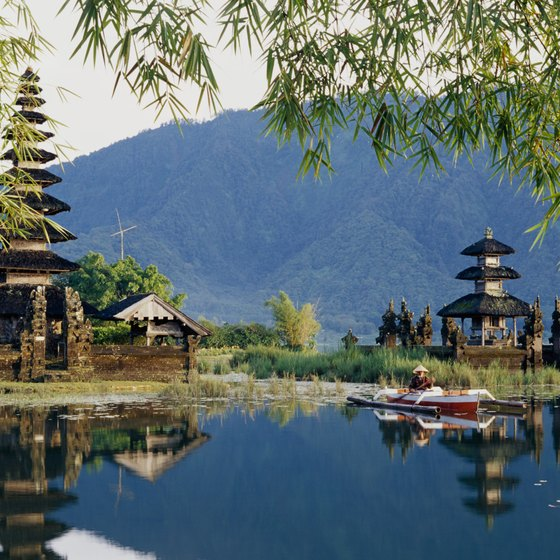 Temples dot the island of Bali, where the population is predominantly Hindu.