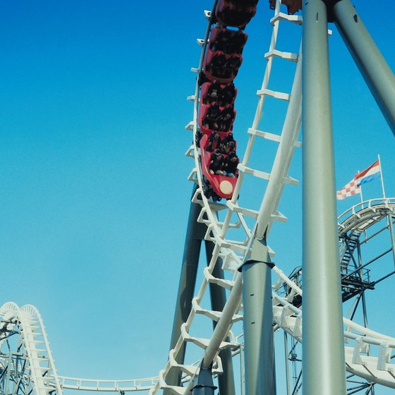 Roller coasters are a big attraction at Virginia area theme parks.