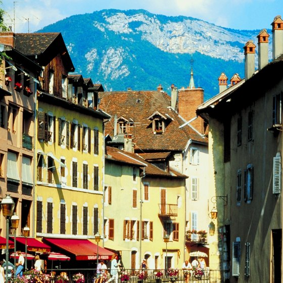 Annecy is a gateway town to the French Alps.