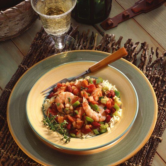 Shrimp and rice is a Louisiana favorite.