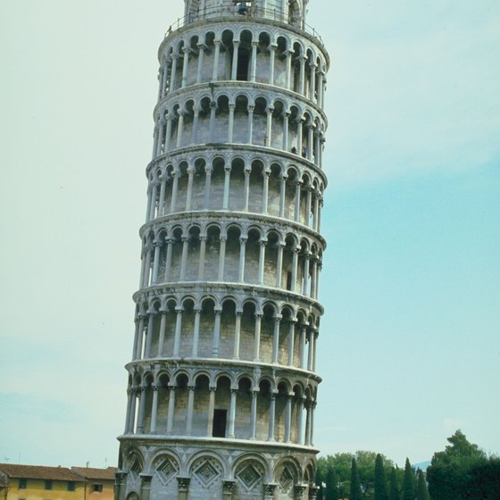The Leaning Tower of Pisa is one of Italy's most recognized buildings.