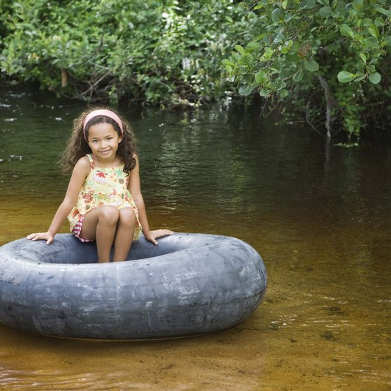 Tubing is popular on Texas State Park's Guadalupe and Comal Rivers.