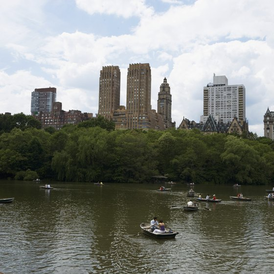 When visiting New York, take the boys rowing in Central Park's lake.