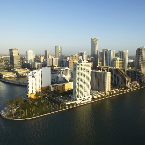 Few hotels offer free shuttles to both the Miami airport and port.