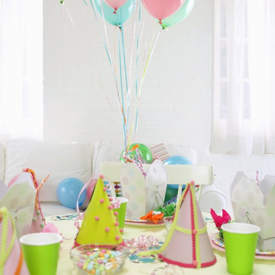 You can customize any venue with your own birthday decor.