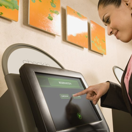 When you purchase an e-ticket, check in at an airport kiosk to expedite time.