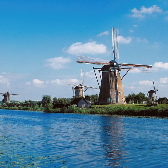 Sizable rivers criss-cross the low-lying nation of the Netherlands.