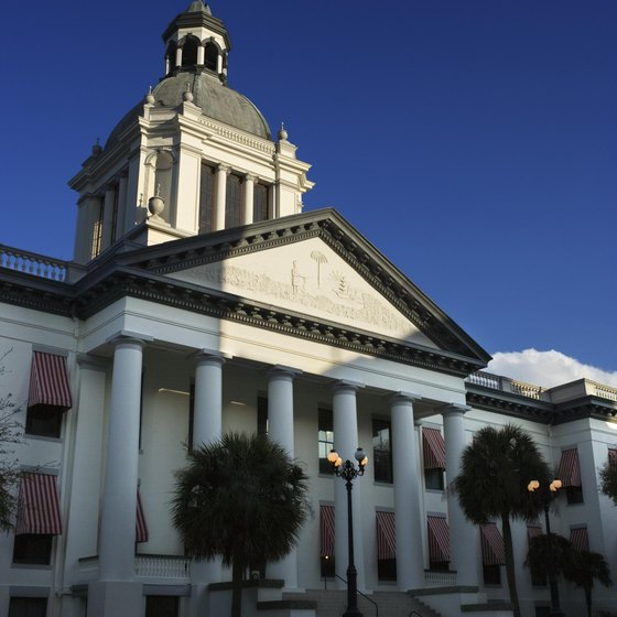 The capitol building in Tallahassee