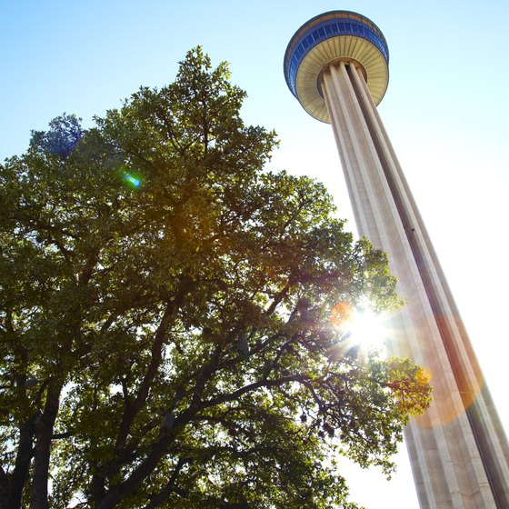 Tower of the Americas is located in HemisFair Park in downtown San Antonio.