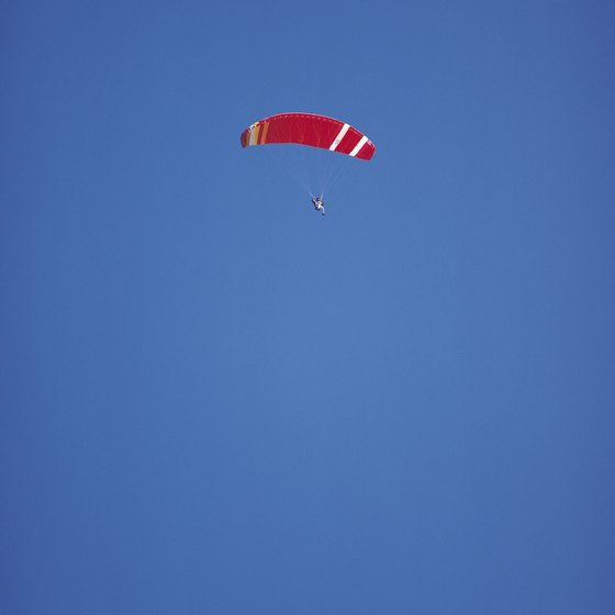 Skydiving is popular with all age groups.