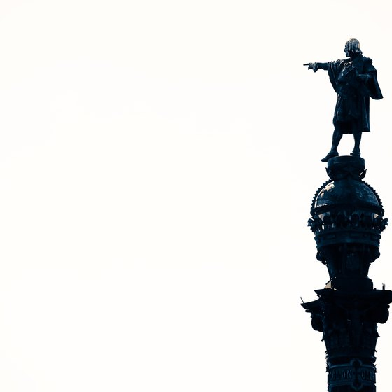 The statue of Christopher Columbus at Barcelona's cruise terminals.