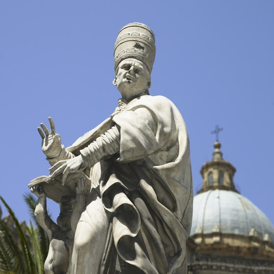 An educational tour of Sicily might include a lecture about the history of the city of Palermo.
