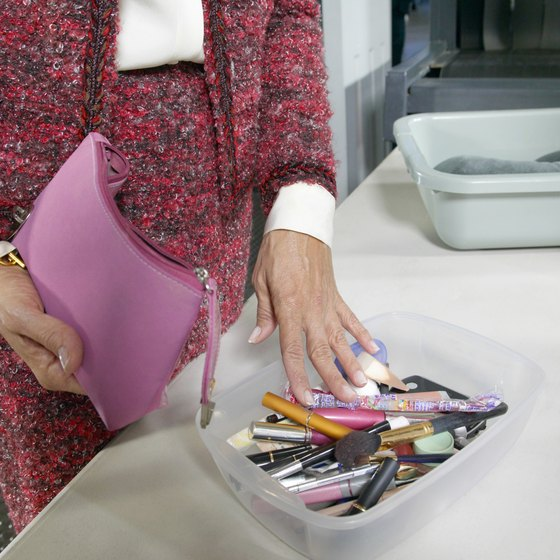 Most makeup can remain in your cosmetic bag when passing through security.