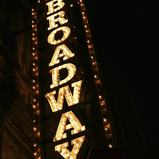 The bright lights of Broadway beckon Martz passengers.