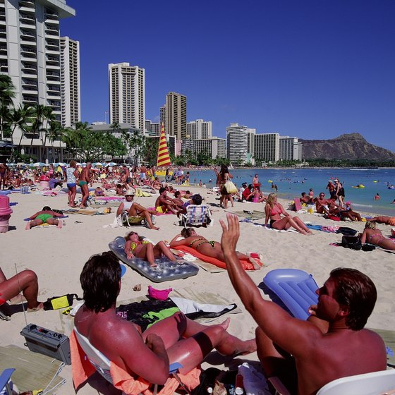 Waikiki Beach is a year-round gathering place.
