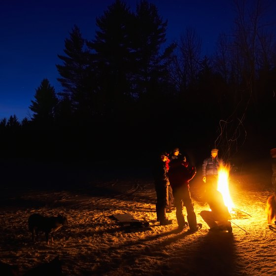 Relax with your family and friends at a campfire in Sayre.