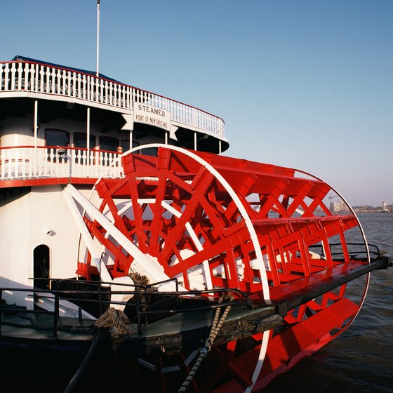 The Mississippi River is home to steamboats and cargo ships as well as cruise ships.