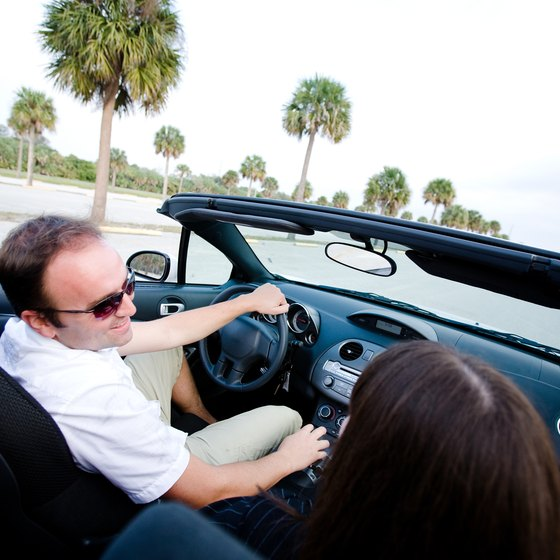 The Floridian coast can be enjoyed on a sandy beach as well as on the road.