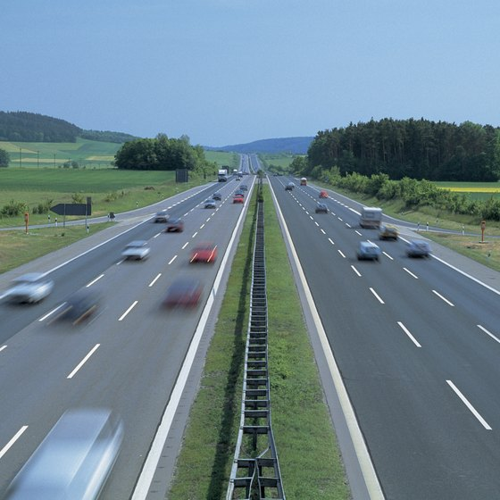 "There is usually no speed limit on the German motorway or ""autobahn."""