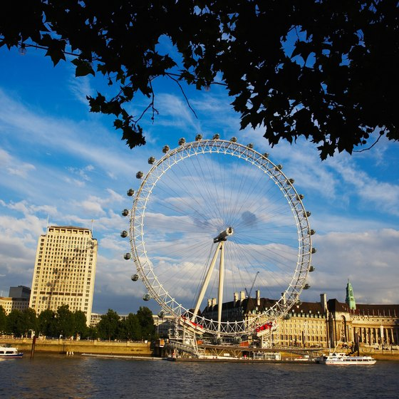 Take a ride on the London Eye for views of the city.