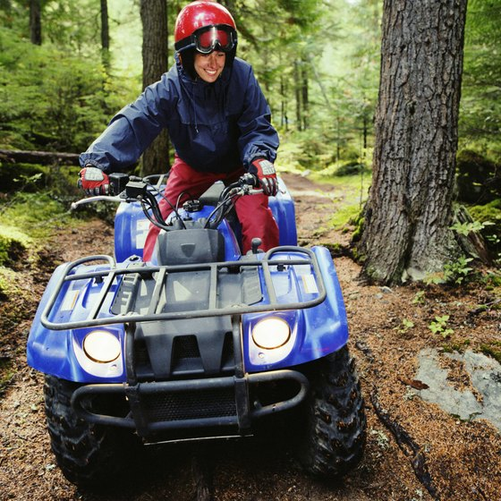Enjoy Wisconsin forests near Park Falls on an ATV.