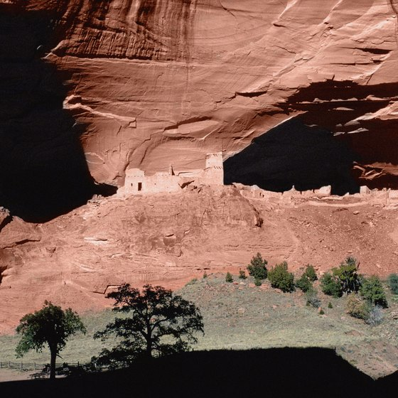 You can tour Canyon de Chelly, near Navajo National Monument, on horseback.