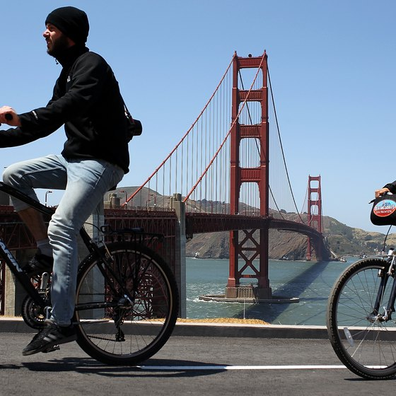 You can reassemble your bike and pedal past the Golden Gate Bridge.