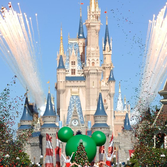 Cinderella Castle hosts daily parades and events for the Magic Kingdom.