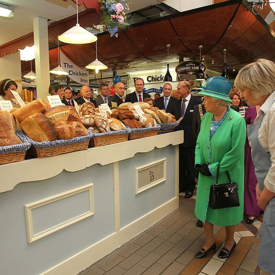 Queen Elizabeth visited Cork's English Market in 2011.