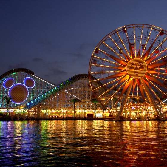 Nighttime lights create magic at Disney's California Adventure.