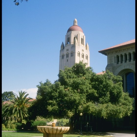 The Stanford campus features an artificial lake.