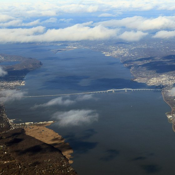 The Piermont Pier juts into the Hudson south of the Tappan Zee Bridge.