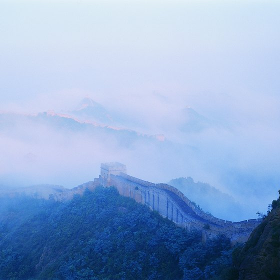 The Mutianyu section of the Great Wall of China is often foggy.